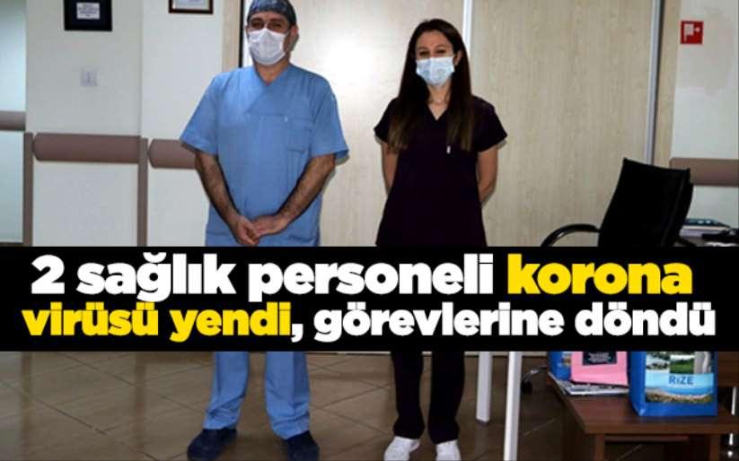 2 sağlık personeli korona virüsü yendi, görevlerine döndü