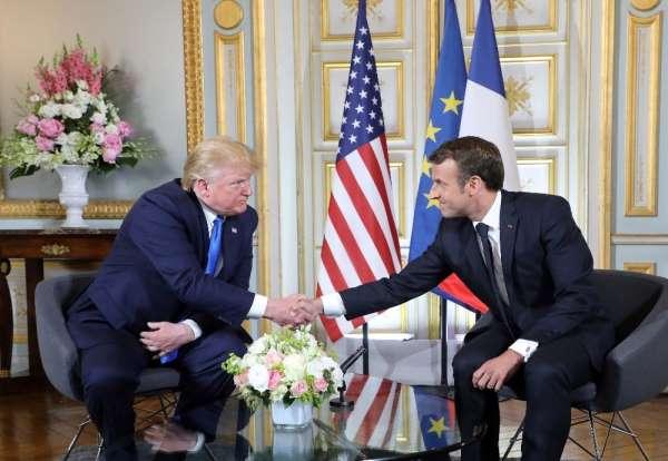 ABD Başkanı Trump: 'Macron ile İran konusunda fikirlerimiz aynı'
