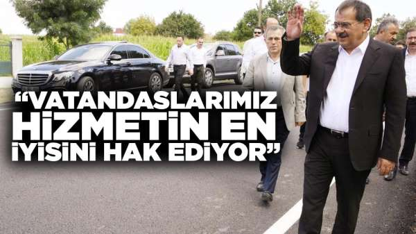 Samsun'da Başkan Demir yol yapım çalışmalarına başlattı