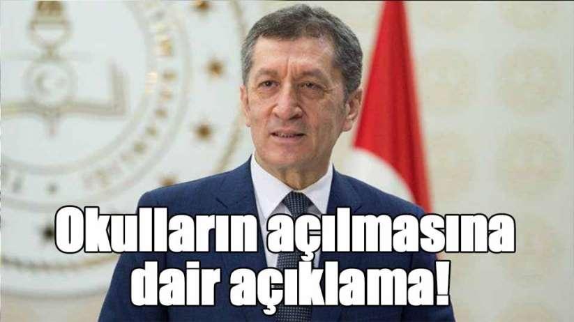Milli Eğitim Bakanı Selçuk'tan okulların açılmasına dair açıklama!