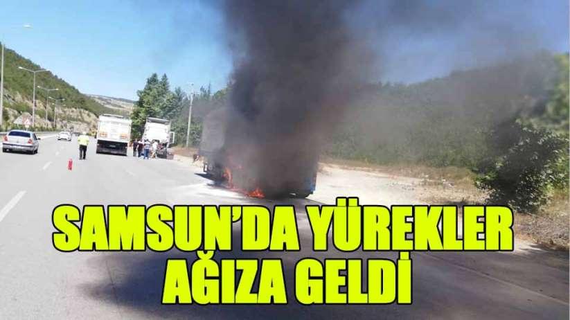 Samsun'da TIR yangını