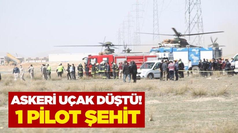 Askeri uçak düştü! 1 pilot şehit