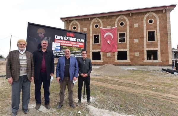 Şehit Eren Öztürkün vasiyet ettiği cami inşaatı hayırseverlerin yardımını bekliyor