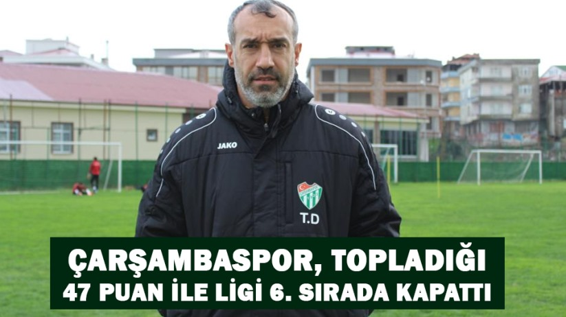 Çarşambaspor, topladığı 47 puan ile ligi 6. sırada kapattı