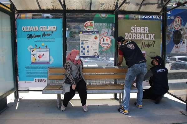 Amasya polisinden siber suçlarla mücadele için afişli bilgilendirme