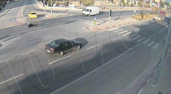 Karamanda trafik kazaları şehir polis kamerasına yansıdı