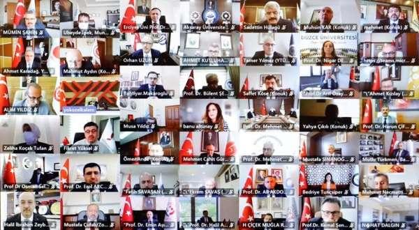 Rektör Türkmen, çevrim içi düzenlenen Engelsiz Üniversite Ödülleri programına katıldı