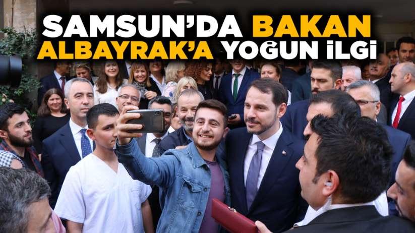 Samsun'da Bakan Albayrak'a yoğun ilgi