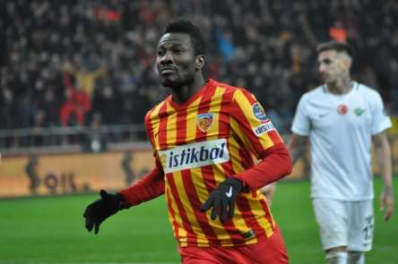 Kayserispor'a Asamoah Gyan'dan kötü haber
