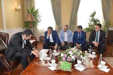 Çelebispor Kulübü'nden Vali Memiş'e 'Hayırlı Olsun' ziyareti