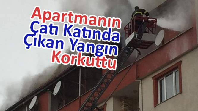 Apartmanın çatı katında yangın çıktı