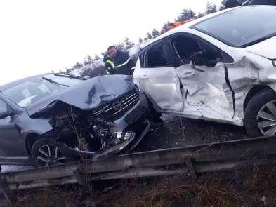 TEM'de trafik kazası: 7 yaralı