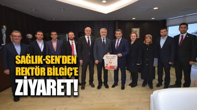Sağlık-Sen'den rektör Bilgiç'e ziyaret!
