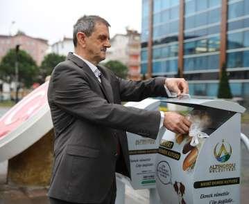 Altınordu Belediyesinden 'Bayat Ekmek Toplama Projesi'