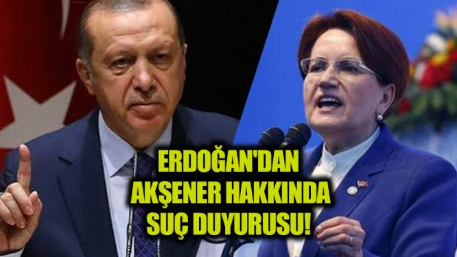 Erdoğan'dan Meral Akşener hakkında suç duyurusu!