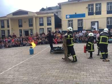 Okullarda yangın tatbikatları