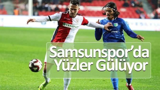 Samsunspor'da yüzler gülüyor