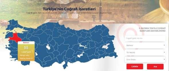 Balıkesir'in coğrafi işaretli ürünleri dijital platformda