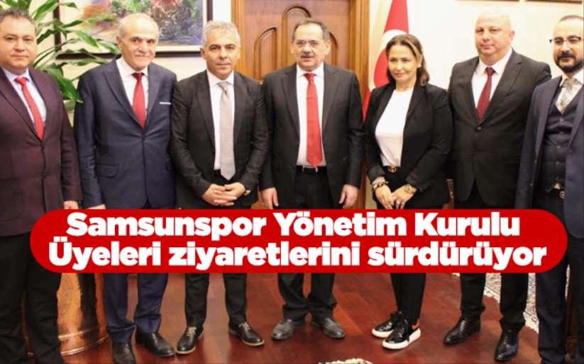 Samsunspor Yönetim Kurulu Üyeleri ziyaretlerini sürdürüyor