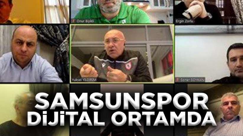 Samsunspor dijital ortamda toplantı yaptı