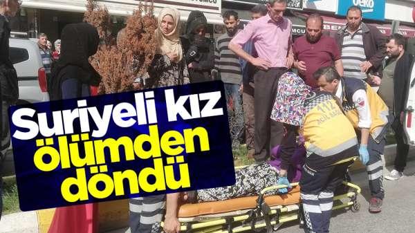 Samsun'da Suriyeli genç kız ölümden döndü