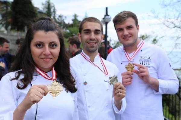 Geleceğin aşçıları ve mutfak şefleri madalyaya doymuyor