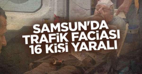 Samsun'da kaza! 16 kişi yaralandı