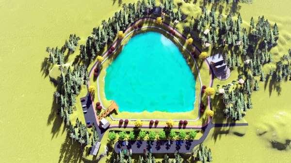 Saklı cennet yeşil göl turizme kazandırılıyor
