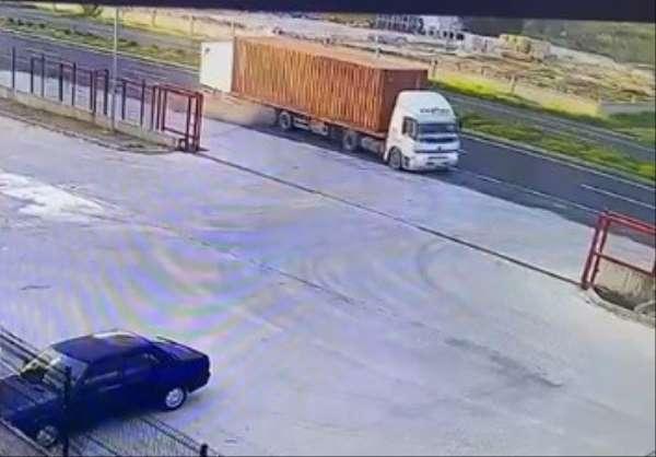 İzmirde meydana gelen feci kaza kamerada