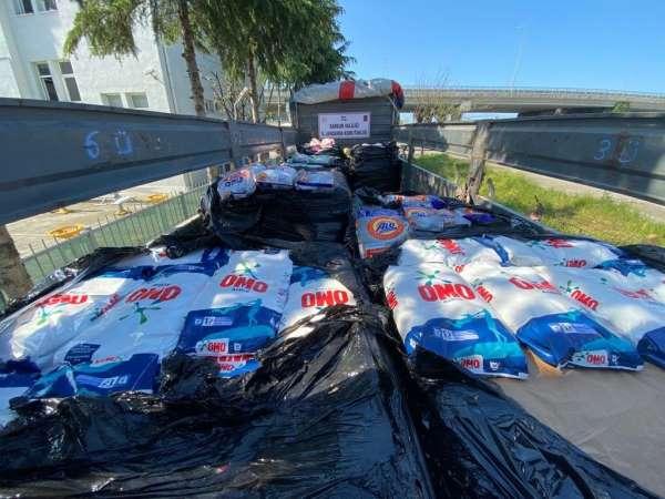 Samsunda 11 ton faturasız taklit temizlik malzemesi ele geçirildi