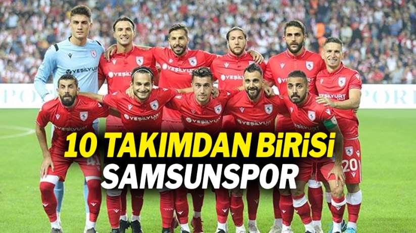 10 takımdan birisi Samsunspor