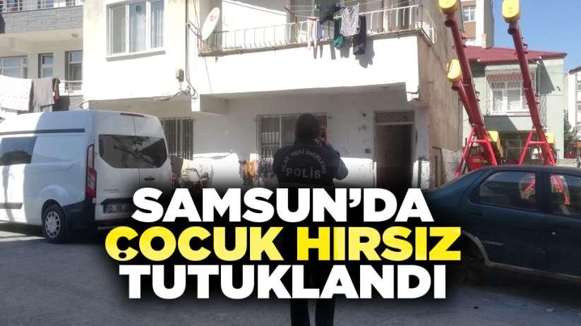 Samsun'da çocuk hırsız tutuklandı
