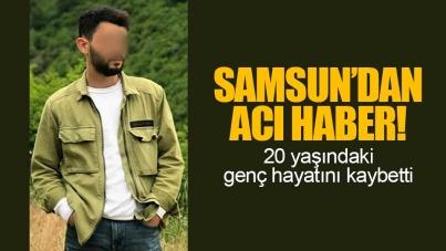 Samsun'da 20 yaşındaki genç kazada öldü