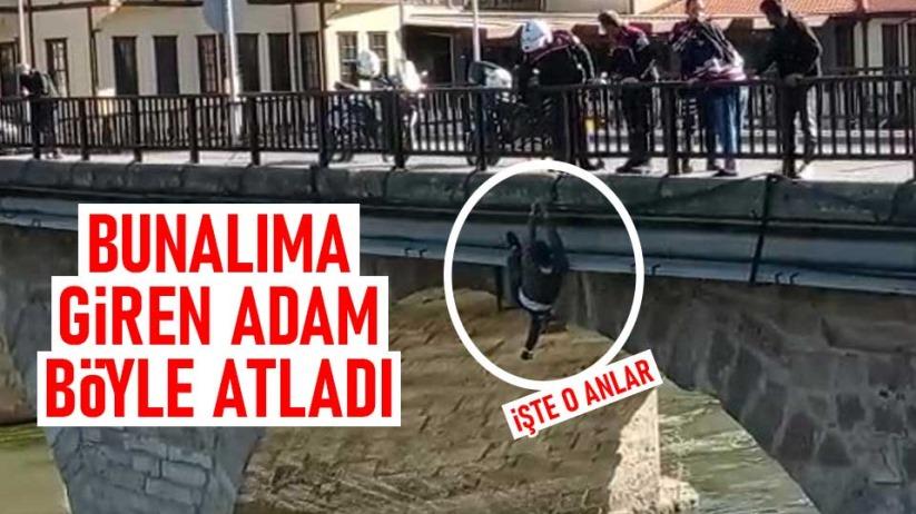 Bunalıma giren adam köprüden Yeşilırmaka atladı