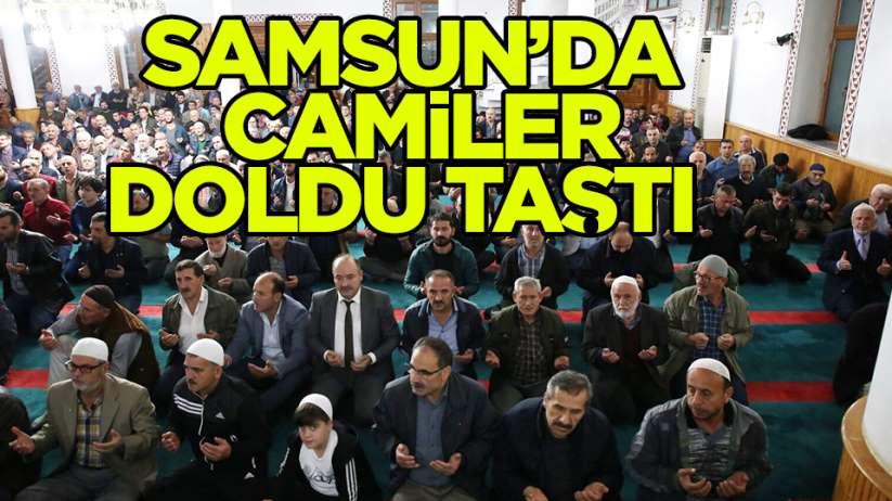 Samsun'da camiler doldu taştı