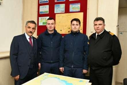Vali Kaymak'tan Sahil Güvenlik personeline tebrik