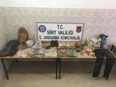 Siirt'te teröristlere ait mühimmat ele geçirildi