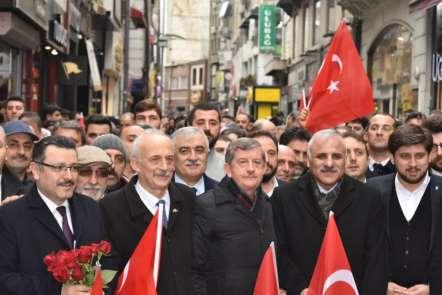 AK Parti ve MHP Teşkilatları Cumhur İttifakı için Trabzon'da birlikte yürüdü