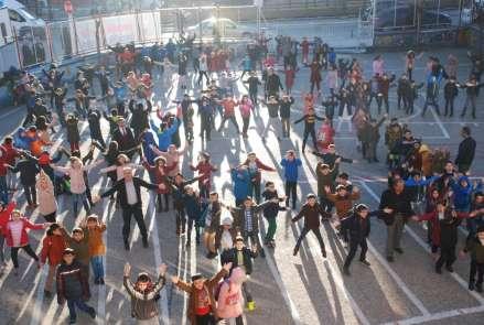 Tokat'ta 72 bin öğrenci aynı saatte spor yapıyor