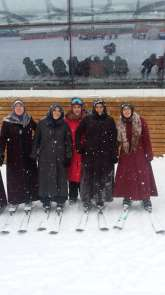 Erzurum GSİM'den kadınlara kayak jesti