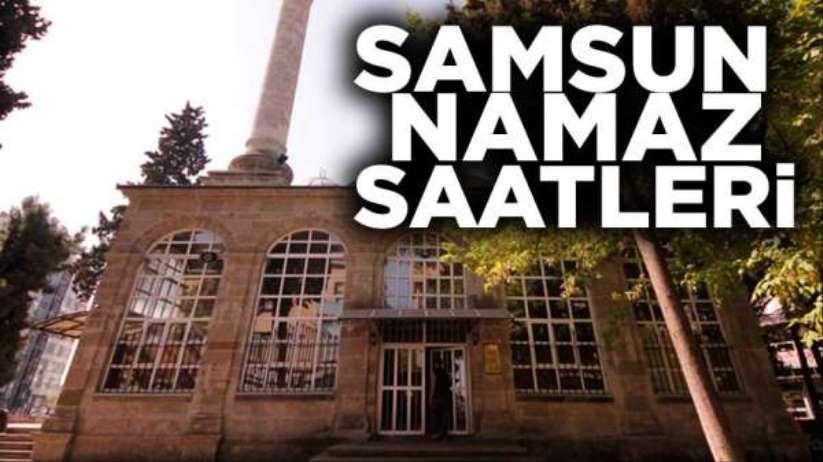 8 Nisan Çarşamba Samsun'da namaz saatleri