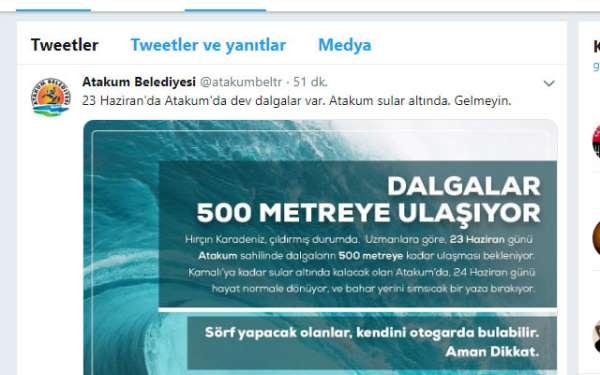 Samsun'un Atakum ilçesi dev dalgaların altında kalacak