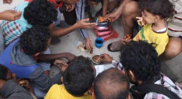 Açlık krizinin yaşandığı Yemen'de iftar