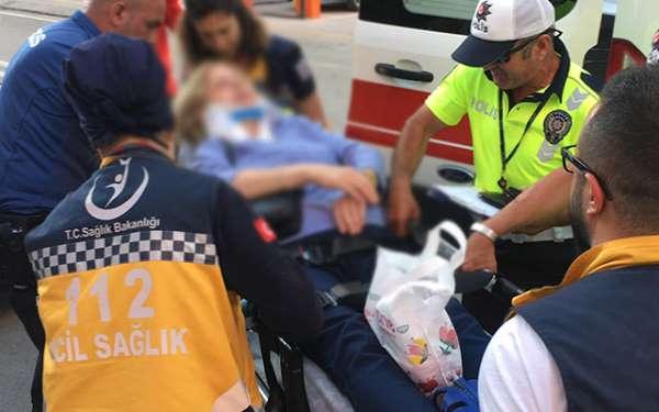 Samsun'da ilginç bir kaza yaşandı