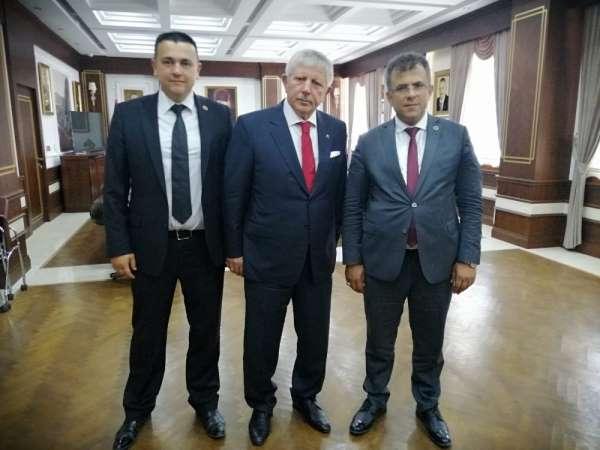 Başkan Çatal'dan Amasya Belediye Başkanı Sarı'ya ziyaret