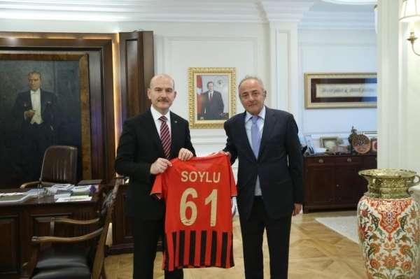 Gençlerbirliği'nden, İçişleri Bakanı Süleyman Soylu'ya ziyaret