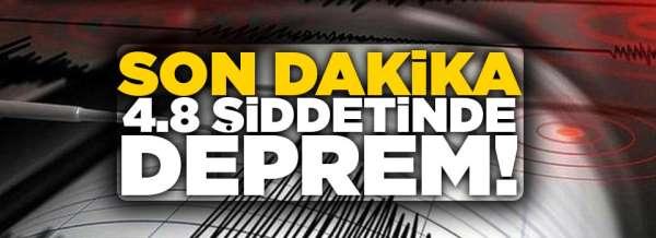 İzmir'de 4,8 büyüklüğünde deprem paniğe neden oldu