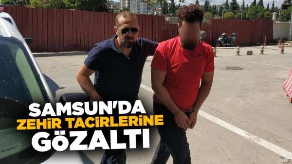 Samsun'da zehir tacirlerine gözaltı
