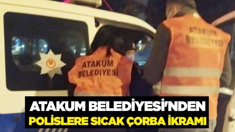 Atakum Belediyesinden polislere sıcak çorba ikramı