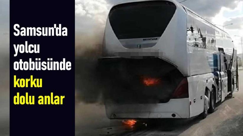Samsunda yolcu otobüsünde korku dolu anlar